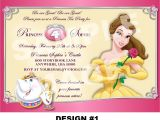 Princess Tea Party Invitation Wording Beauty and the Beast Invitation Belle by Storybooklanecrafts