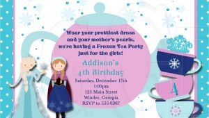 Princess Tea Party Invitation Wording Ice Princess Tea Party Invitation Birthday Digital File