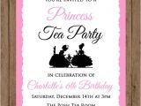 Princess Tea Party Invitation Wording Princess Tea Party Birthday Invitationgirls Pink by