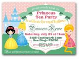 Princess Tea Party Invitation Wording Princess Tea Party Invitation Royal Tea Birthday Party