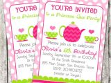 Princess Tea Party Invitations Free Printable Items Similar to Printable Birthday Party Invitation Tea