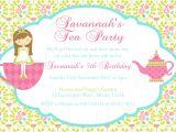 Princess Tea Party Invitations Free Printable Tea Party Birthday theme Printable Invitation and Gift Favor