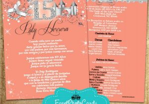 Princess themed Quinceanera Invitations Coral Peach Quinceanera Invitations Princess