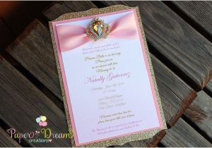Princess themed Quinceanera Invitations Hollywood Gold Sweet 16 Invite Sweet 16 Invitations