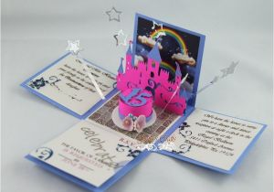 Princess themed Quinceanera Invitations Princess theme Exploding Invitation for Quinceanera Party