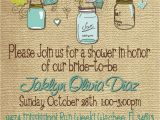 Print Your Own Bridal Shower Invitations Bridal Shower Baby Shower Mason Jar Burlap Invitation