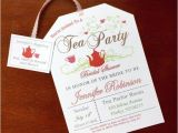Print Your Own Bridal Shower Invitations Bridal Shower Tea Party Invitations