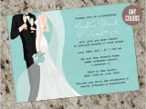 Print Your Own Bridal Shower Invitations Bride & Groom Bridal Shower Invitations In Any Color