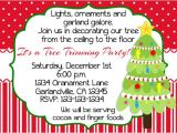 Print Your Own Christmas Party Invitations Christmas Tree Trimming Party Invitation Print Your Own
