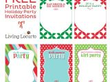 Print Your Own Christmas Party Invitations Free Printable Diy Holiday Party Invitations