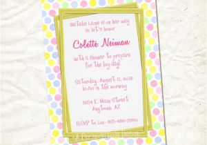 Print Yourself Baby Shower Invitations Pink Lemonade Dots Baby Shower Invitation Print Yourself File