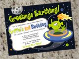 Printable Alien Birthday Invitations Alien Birthday Party Invitations Space Alien Outer Space