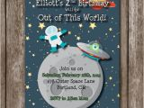 Printable Alien Birthday Invitations Outer Space Birthday Printable Invitation Space Alien