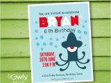 Printable Alien Birthday Invitations Printable Personalized Alien Birthday Invitation by Owlyprint