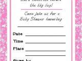 Printable Baby Girl Shower Invitations Free Printable Girl Baby Shower Invitations