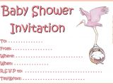 Printable Baby Girl Shower Invitations Printable Girl Baby Shower Invitations