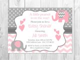 Printable Baby Shower Invitations Elephant theme Pink and Grey Elephant Baby Shower Invitation It S A Girl