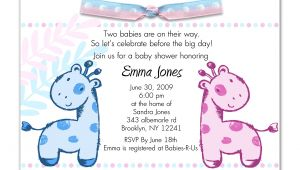 Printable Baby Shower Invitations Twins Printable Baby Shower Invitations Twins