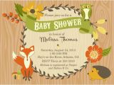 Printable Baby Shower Invitations Woodland Animals Party Pop S Vendor Listing
