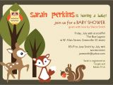 Printable Baby Shower Invitations Woodland Animals Printable Baby Shower Invitation Woodland Animals Creatures