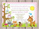 Printable Baby Shower Invitations Woodland Animals Printable Woodland forest Animals Baby Shower Invitation