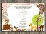 Printable Baby Shower Invitations Woodland Animals Printable Woodland Girl Baby Shower Invitation