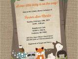 Printable Baby Shower Invitations Woodland Animals Woodland Baby Shower Invitations with forest Animals Wood