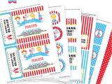Printable Birthday Invitation Kits Circus Party Invitation Decorations Kit Printable