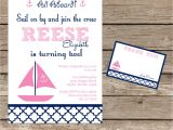 Printable Birthday Invitation Kits Diy Printable Sail On by Nautical Birthday Invitation Kit