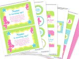Printable Birthday Invitation Kits Mermaid Party Invitation Decorations Kit Printable