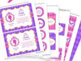 Printable Birthday Invitation Kits Princess Party Invitation Decorations Kit Printable