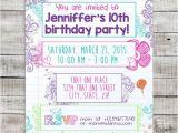 Printable Birthday Invitations for Tweens Teen Tween Doodle Printable Invitation Sleepover Invite