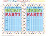 Printable Birthday Invitations Free Bnute Productions Free Printable Dots N Stripes Birthday