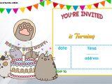 Printable Birthday Invitations Free Free Printable Pusheen Birthday Invitation Template