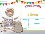 Printable Birthday Party Invitation Templates Free Printable Pusheen Birthday Invitation Template Free