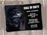 Printable Call Of Duty Birthday Invitations Call Of Duty Birthday Invitation Digital File by