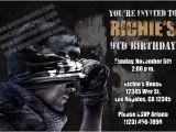 Printable Call Of Duty Birthday Invitations Call Of Duty Invitations From General Prints