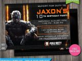 Printable Call Of Duty Birthday Invitations Sale Off Call Of Duty Black Ops 3 by Studiobeedesignco