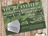 Printable Camo Birthday Invitations Camo Birthday Invitation Diy Printable Invitation Army