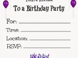 Printable Childrens Birthday Party Invitations Free Printable Birthday Invitations for Kids
