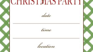 Printable Christmas Party Invite Template 7 Best Images Of Free Printable Christmas Invitation