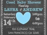 Printable Coed Baby Shower Invitations Printable Elephant theme Coed Couples Baby Shower