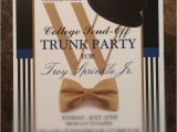 Printable College Trunk Party Invitations Graduation College Send Off Trunk Party Invitation