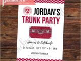 Printable College Trunk Party Invitations Trunk Party Invitation Going Away College by