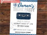 Printable College Trunk Party Invitations Trunk Party Invitation Going Away College High School