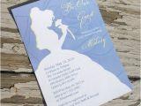 Printable Disney Bridal Shower Invitations Disney Beauty and the Beast Belle Bridal Shower Invitation