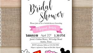 Printable Disney Bridal Shower Invitations Disney Bridal Shower Invitation Printable Disney Engagement