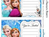 Printable Frozen Birthday Invitations Frozen Party Free Printable Invitations Oh My Fiesta