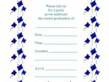 Printable Graduation Invitations 2018 Free Printable Graduation Party Invitations