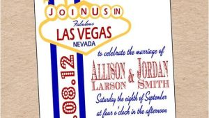 Printable Las Vegas Wedding Invitations Items Similar to Las Vegas Wedding Invitation or Save the